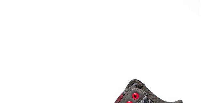 Pánské šedé kotníkové tenisky s kontrastními prvky Big Star