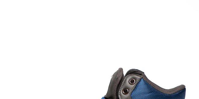 Pánské šedé tenisky s modrými prvky Big Star