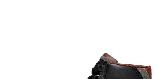 Pánské černé prošívané kotníkové tenisky Big Star