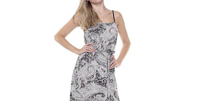 da9b500d707 Dámské dlouhé černobílé šaty se vzorem Guess
