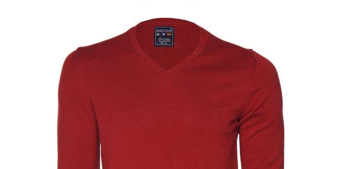 c932884aebe Pánský červený svetr s logem Giorgio di Mare