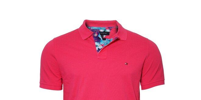 26583c69a6843 Pánské klasické tmavě růžové polo tričko Tommy Hilfiger | Slevomat.cz