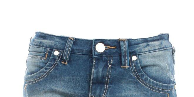 Dámské džínové minikraťásky Exe Jeans s ohrnutými nohavicemi ... 49ef885e78