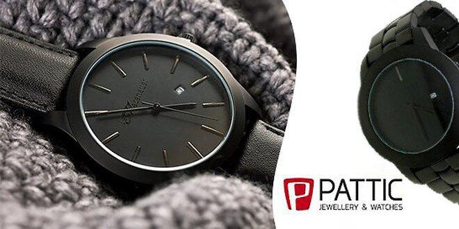 7ae75c28b Originální pánské černé moderní hodinky značky Pattic   Slevomat.cz