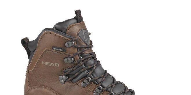 Pánské tmavě hnědé vysoké trekingové boty Head s membránou  071d9f9d9a