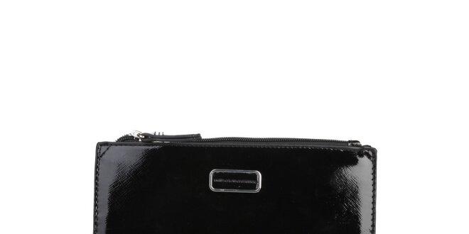 Dámská menší černá lakovaná taštička na make-up Benetton