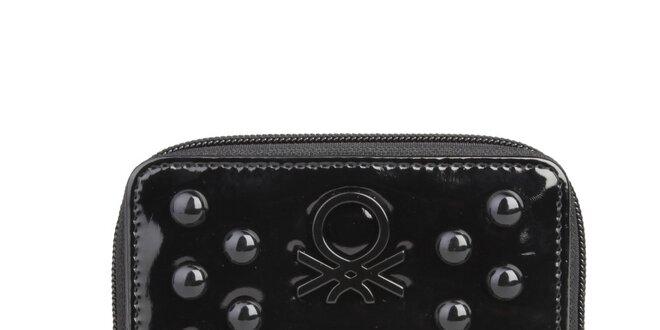 Dámská černá pěněženka s pecičkami Benetton