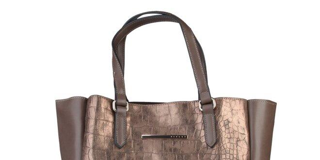 Dámská bronzová kabelka Sisley