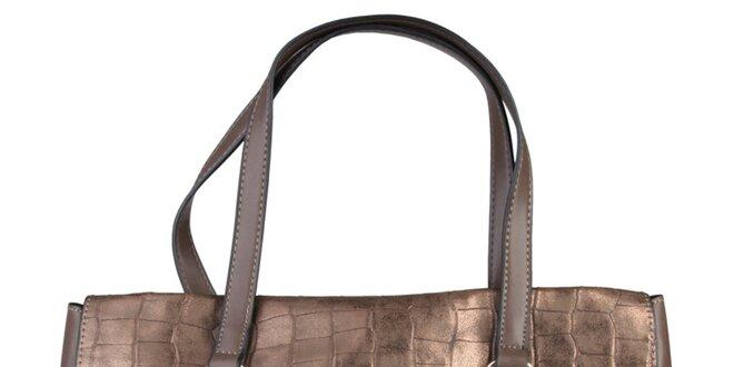 Dámská podlouhlá bronzová kabelka Sisley