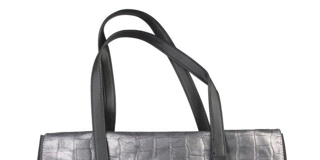 Dámská podlouhlá stříbrná kabelka Sisley