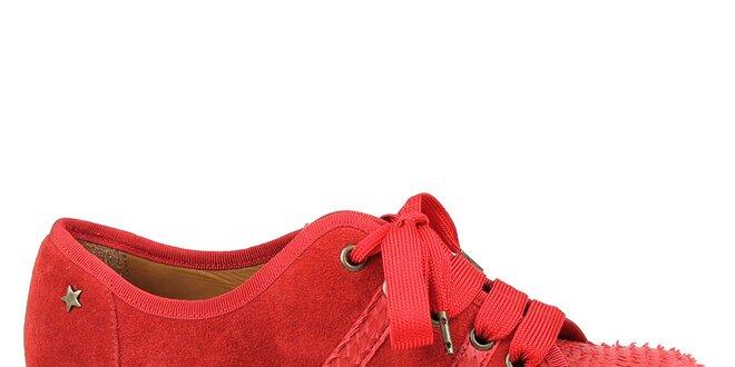 8116d1dbb Dámské červené tenisky na platformě Cubanas Shoes | Slevomat.cz
