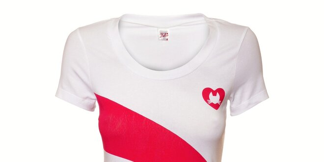 dc083a7eee2 Dámské bílé tričko Pussy Deluxe s barevným potiskem