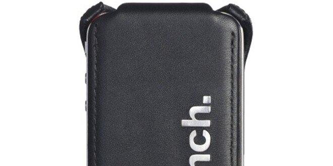 Černé kožené pouzdro na iPhone Bench