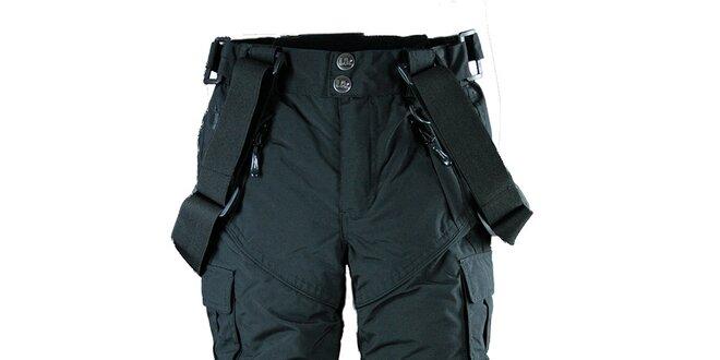 Pánské černé lyžařské kalhoty se šlemi Utopik