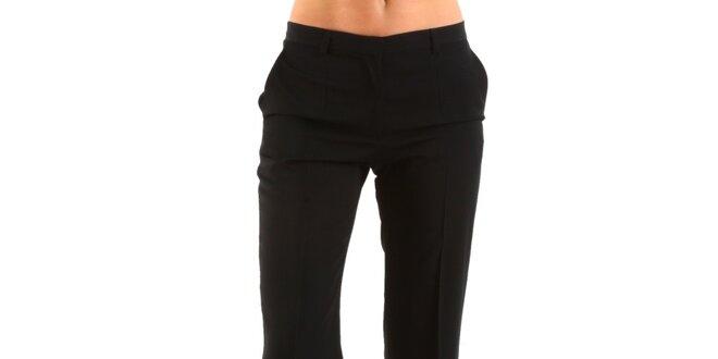 087b30052fa Dámské černé společenské kalhoty Calvin Klein s puky