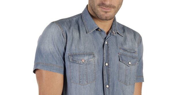 Pánská modrá denimová košile New Caro