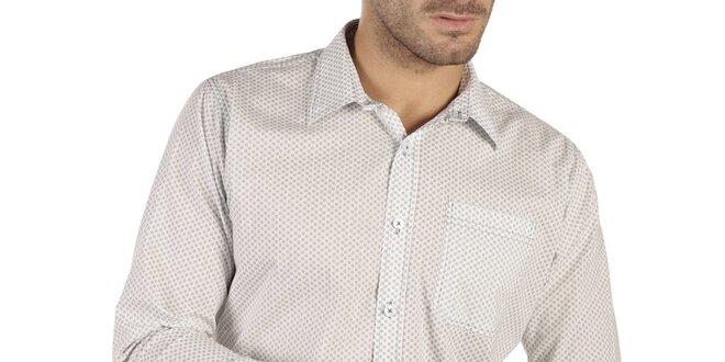 Pánská bílá košile s vzorem New Caro