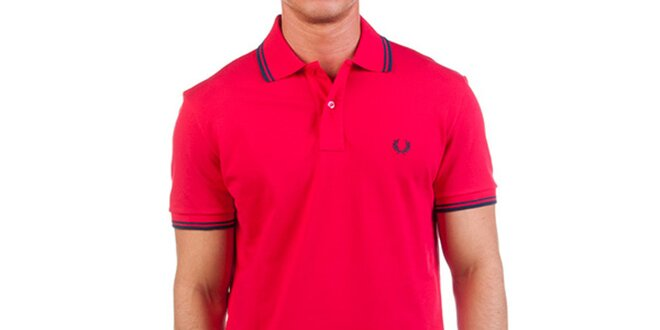 Pánské červené polo tričko Fred Perry