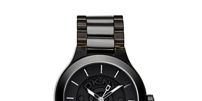 Dámské kovové hodinky DKNY v černé barvě  3b0a9f18c35