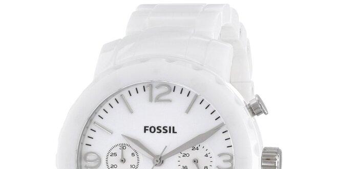 17f2af84a6a Dámské bílé keramické hodinky Fossil