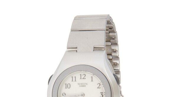 Dámské ocelové hodinky Casio s kombinovaným ciferníkem
