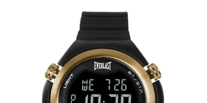 Dámské černo-zlaté digitální hodinky Everlast  2513d8c92e