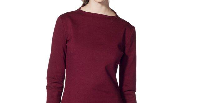 d3669ca37ab Dámské vínové šaty s dlouhým rukávem Gene