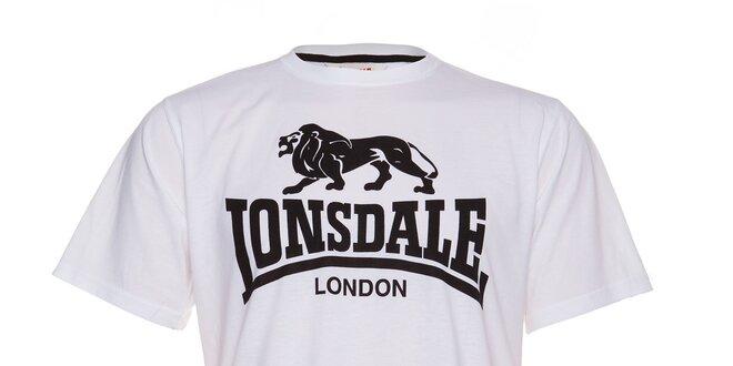 Pánské bílé tričko Lonsdale s černým logem