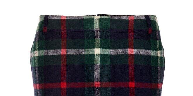 a10904fdfa7e Dámská zelená károvaná sukně Tommy Hilfiger