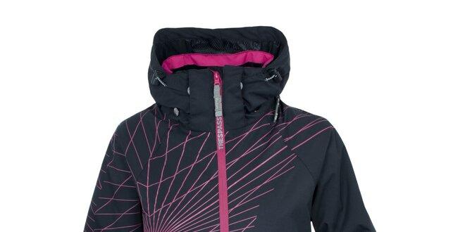 Dámská černá lyžařská bunda s potiskem Trespass