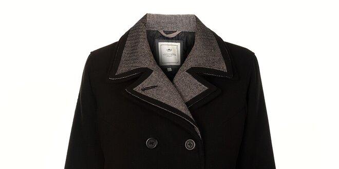5d245333a7a3 Dámský černý zimní kabát Timeout