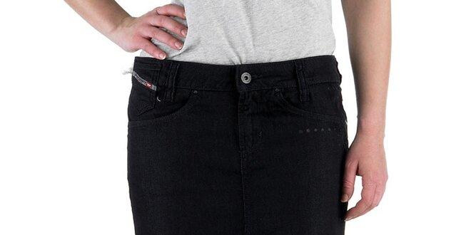 Dámská černá džínová sukně Diesel
