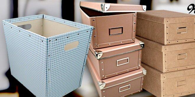 Krabice a koše Kazeto – designový úložný prostor
