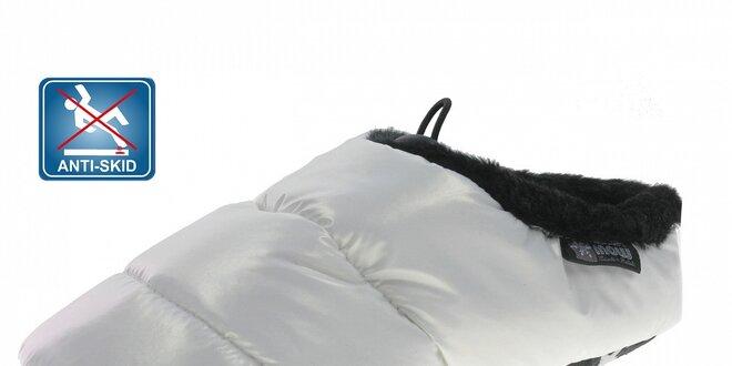 Dámská bílá prošívaná domácí obuv Beppi