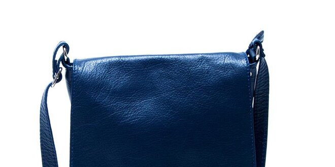3c60b1a2d Dámská kožená modrá taška přes rameno Renata Corsi | Slevomat.cz
