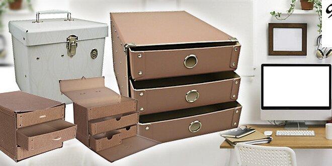 Chytré úložné boxy Kazeto se šuplíčky a zásuvkami