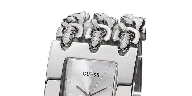 Dámské náramkové hodinky ve stříbrné barvě Guess  00e059b1a8