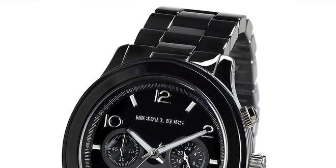 Pánské černé hodinky s chronografem Michael Kors  99efea69d4