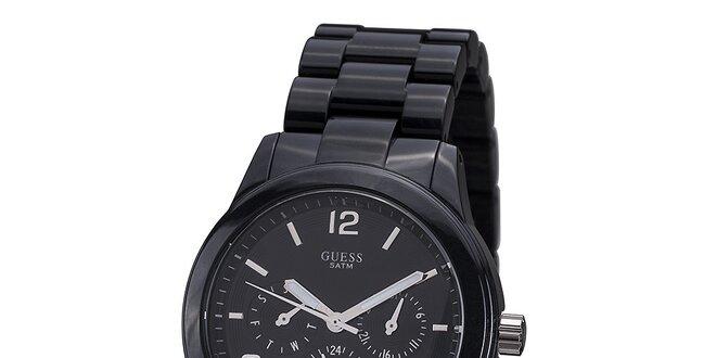 Dámské černé hodinky Guess  38914e3b92
