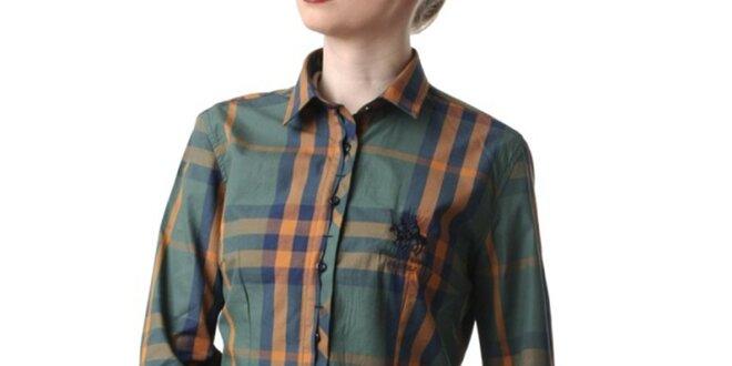 Dámská zelená kostkovaná košile Frank Ferry  98935537ca