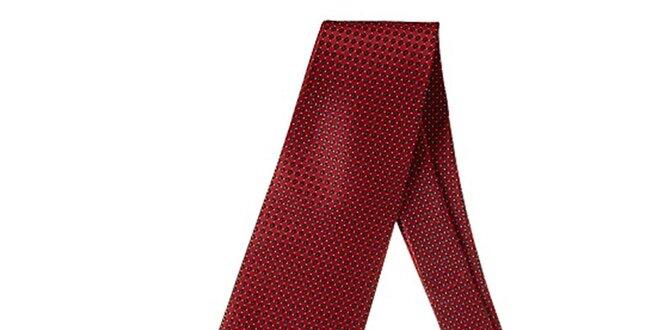 Pánská červená kravata se vzorem Marsanpiel