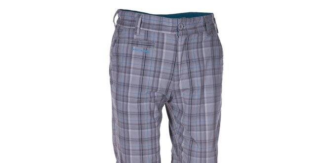 Pánské světle šedé kostkované kalhoty Envy  17082f0a6c