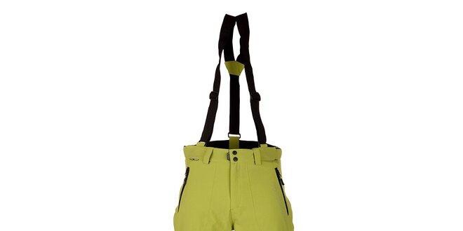 Pánské zelené lyžařské kalhoty Trimm Ell s membránou