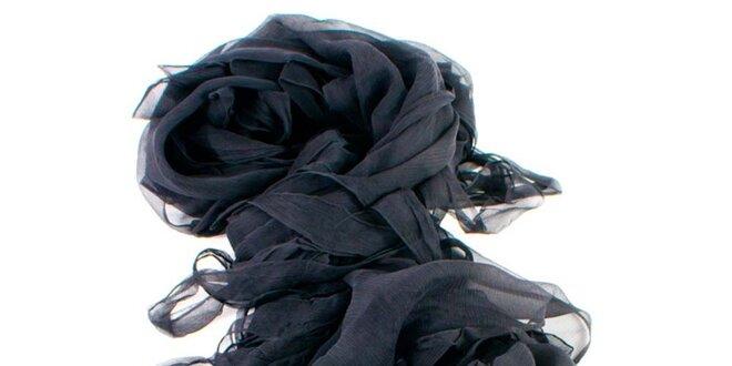 Dámský černý hedvábný šátek Gianfranco Ferré