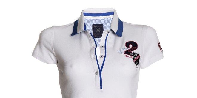 Dámské bílé polo tričko s modrými detaily Signore dei Mari