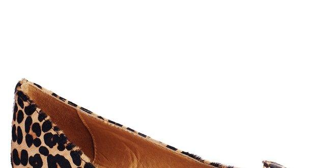 Dámské leopardí balerínky s mašlí Lola Ramona