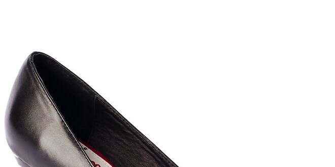 Dámské černo-červené lodičky s pruhy Lola Ramona