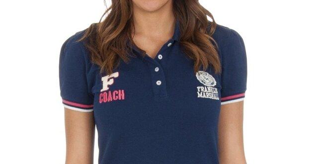 Dámské námořnické polo tričko s proužky Franklin & Marshall