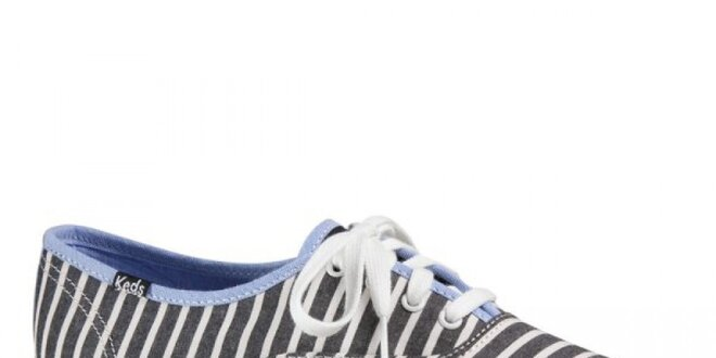 Dámské černo-bíle pruhované tenisky Keds