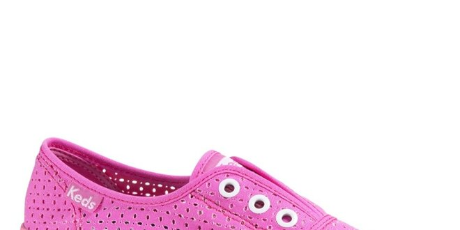 Dámské perforované růžové tenisky Keds